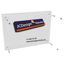 Placa metacrilato rectangular
